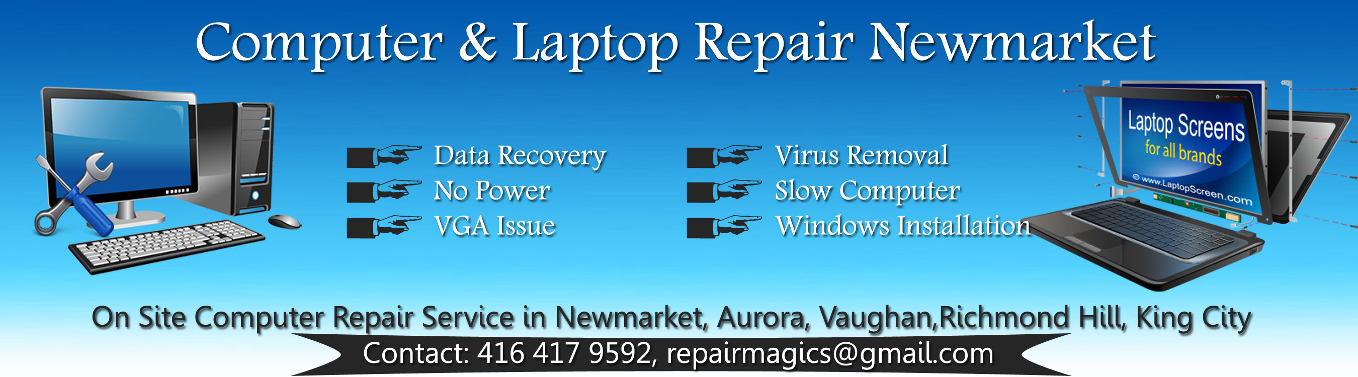 Laptop Computer Repair Newmarket
